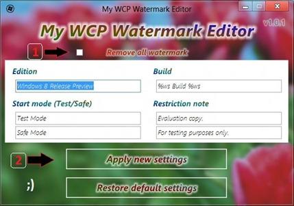 windows 8 watermark remover