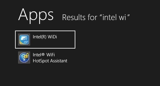 Windows 8 Intel WiDi