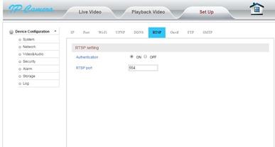 IP-camera-RTSP-setting